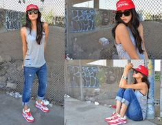 nike airmax 90 fashion women gym outfit - Google Search