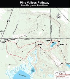 Pine Valleys Pathway, Pere Marquette State Forest: backcountry camping, Lost Lake