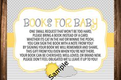 You Are My Sunshine Baby Shower Book Request by WonderstruckPrints
