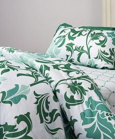 Look what I found on #zulily! Green & White Trellis Duvet Cover Set by ACG Green Group #zulilyfinds