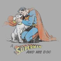 Superman Krypto Distressed T-Shirt Superman Stuff, Superman Family, Superman Man Of Steel, Superman Wonder Woman, Batman And Superman, Action Comics 1, Dc Comics, Marvel Avengers Movies, Superhero Villains