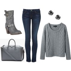 """""""Cozy Winter Outfit"""" by mama2aesl on Polyvore"""
