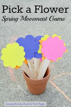 Spring Movement Games. This fun movement game is perfect for a spring theme in your preschool or kindergarten classroom. Play outdoors or inside. Practice the alphabet with movements. Your kids will beg to play this game over and over again! - Pre-K Pages