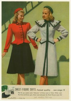 Sweet-figure suits. (1947)