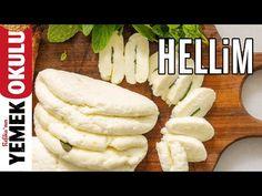Evde Peynir Yapmak; Leziz Naneli Kıbrıs Hellimi - YouTube Halloumi Cheese Recipes, How To Make Cheese, Turkish Recipes, Soup And Salad, Cheesecakes, Dairy, Appetizers, Pasta, Homemade