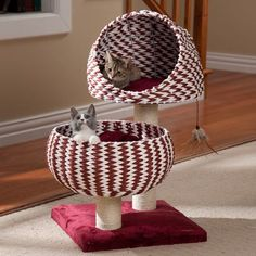 The two-tone woven design of this cat furniture is unique and fun - just like your cat!
