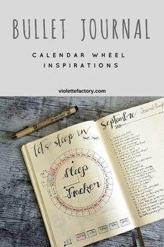 #bulletjournal #calendar #wheel