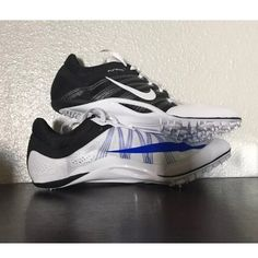 🆕 Nike Track cleats Zoom ja fly 2 Flywire ALL OF MY ITEMS ARE 💯AUTHENTIC‼️ 🚫NO TRADES 🚫NO HOLDS 🚫NO LOW OFFERS ⚠️PLEASE USE OFFER BUTTON‼️ I WILL NOT RESPOND TO OFFERS OR WHAT'S MY LOWEST IN THE COMMENTS⚠️  Brand new Nike cleats. COMES WITH SHOES ONLY!  Shoe: Nike Zoom JA Fly 2 Cleats Men's Size:  8.5 equals a Women's Size: 10                           Shoe Description: Color: White/Racer, Blue/Black. Cleats  Flywire wrapped at pressure points for strength and durability. Nike Shoes…