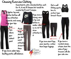 Choosing Exercise Clothing to look slim at the gym