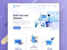Web header illustration designed by Sudhan Gowtham . Connect with them on Dribbble; the global community for designers and creative professionals. Design Sites, Web Ui Design, Web Design Services, Web Design Trends, Page Design, Flat Design, Sites Layout, Web Layout, Layout Design
