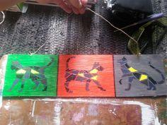 3 Cats Acrylic on pressboard R100.00