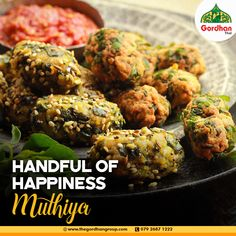 Muthiya, a steamed healthy and delicious snack is an integral part of Gordhan Thal. Call us at 079 2687 1222 Gujarati Thali, Indian Food Recipes, Ethnic Recipes, Ahmedabad, Yummy Snacks, Tandoori Chicken, Foodies, Healthy, Indian Recipes