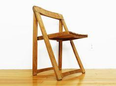 Aldo Jacober  Beech Folding Chair by PopBam on Etsy