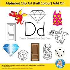 This alphabet clip art add-on, is to build onto the…