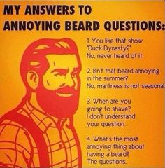 answers to beard questions