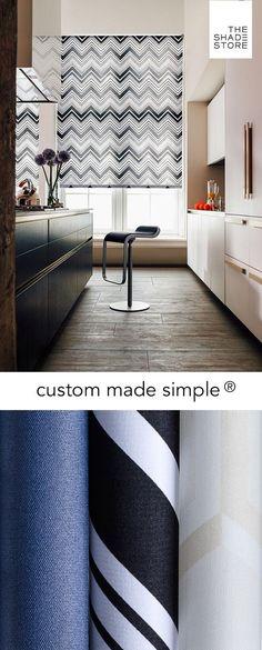 Custom Made Simple - Roller Shade - Chevron