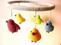Crocheted mobile  Birds mobile  nursery mobile by Crochetonatree, €85.00