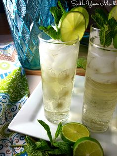 ... easy), fresh lime juice, rum or tequila and lemon-lime or club soda