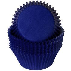 $1.85 (set of 16) Dark Blue Cupcake Liners | BirthdayDirect.Com