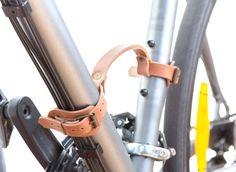 Tourbon marron / Cuir V/élo Cadre Manipuler Bicyclette Peu / Ascenseur Noir