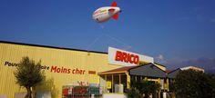 Dirigeable gonflable publicitaire 6m bricomarché (Zeppelin)   Salons, foire, animation commerciale...