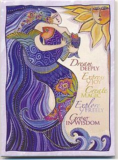 Inspiration: Dream Deeply Express Joy Create Magic Explore Freely Grow in Wisdom