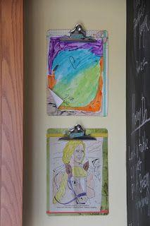clip boards for kid art!