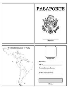 Use this Spanish Passport as a resource to help students take notes on different Spanish-speaking countries. This is a great way to introduce a bit of culture from several different countries.