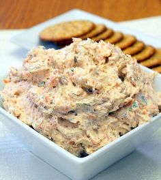 Smokey savory salmon makes an incredible dip! Paired with cream cheese, classic lemon, garlic, onion,