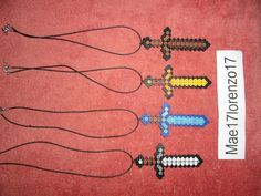 minecraft perler bead swords