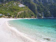 Thapsa beach in Central Evia