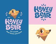 Brand Identity Design, Branding Design, Inspiration Logo Design, Logos, Dog Branding, Brand Book, Kids Logo, Graphic Design Illustration, Honey Bear