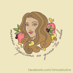 Morena Tropicana #xlrosa #morenatropicana #digitalpainting #illustrator #alceuvalença #tropical #woman #