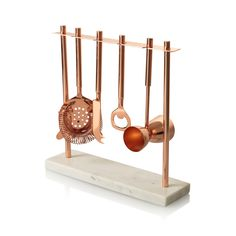Buy the Marble & Copper Bar Tools Set at Oliver Bonas. Enjoy free UK standard delivery for orders over £50.