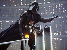 """Star Wars, 1977  Momento em que Darth Vader diz """"Luke, eu sou seu pai""""."""