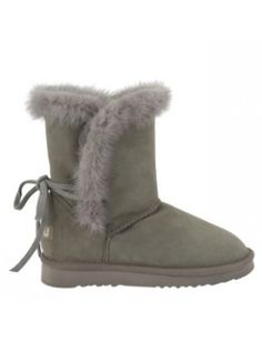 Mou Mink Back-Lace Boots New Grey