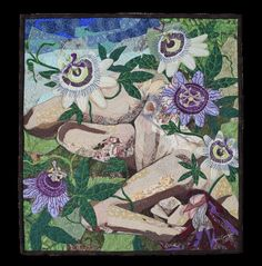 Quilted Wall Hanging- Goddess of the Passionflower $1800