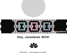 peyote ring pattern,PDF-Download, #031R-2d, 2 drop peyote, beading pattern, beading tutorials, ring pattern