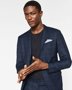 Image 2 of BLUE CHECK SUIT from Zara