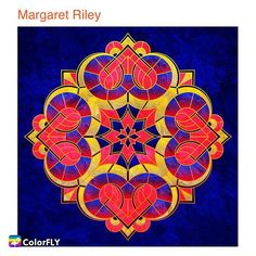 Lovely #mandala from our artist the color combo is so great there.  ----------------- Let more people see your masterpiece   Tag/DM me or #colorfly #colorflyapp #colorflyart to spread your art. ----------------- #freeapp #coloringapp #pigmentapp #adultcoloringapp #coloring #coloringbook #coloringbookforadults #coloringbooks #coloringpages#coloringtime #adultcoloring #stressfree #stressrelief #colorfy #colorfyapp #picoftheday #recolor #fun #colortherapyapp #art #love #塗り絵 #ぬりえ #painting #cute