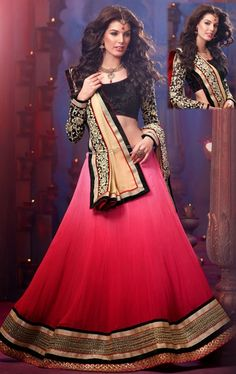 Picture of Admirable Brick Red and Pale Pink Fashion Designer Choli Online