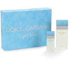Dolce & Gabbana Light Blue Eau De Toilette Natural Spray Fragrance Gift Set for Women, 2 pc