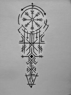 Viking Compass Tattoo, Viking Tattoo Sleeve, Viking Tattoo Symbol, Rune Tattoo, Norse Tattoo, Celtic Tattoos, Viking Tattoos, Sanskrit Tattoo, Hamsa Tattoo