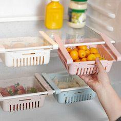 Adjustable Storage Rack Refrigerator Partition Layer Organizer for Kitchen Hot