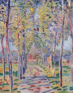 blastedheath:  Jan Sluijters (Dutch, 1881-1957), Boslaantje [Wooded path], c.1909. Oil on canvas, 41.5 x 32.5cm.