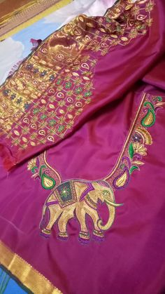 South Indian Blouse Designs, Blouse Neck Designs, Blouse Patterns, Embroidery Designs Free Download, Kutch Work Designs, Blouse Models, Fancy, Saree Styles, Work Blouse
