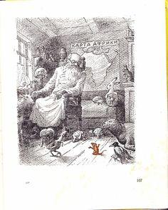 kid_book_museum: Доктор Айболит с рисунками Л. Эппле, Свердловск, 1950 год