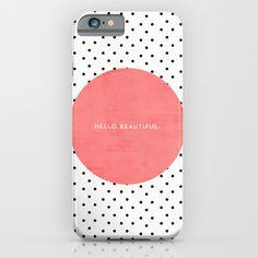 HELLO BEAUTIFUL - POLKA DOTS iPhone & iPod Case