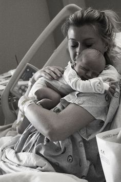Mom and baby for first time <3 ..love this blog post of Cash's birth in Photos