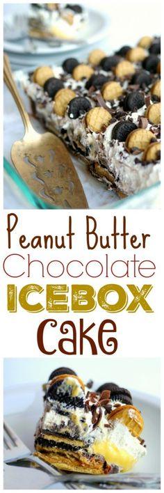 Peanut Butter-Chocolate Icebox Cake + VIDEO